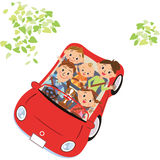 The family who goes for a drive Royalty Free Stock Photography