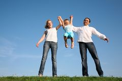 Family wih child Stock Photography