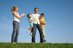 Family wih children Stock Image