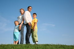 Family wih children royalty free stock photos