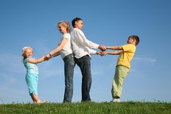 Family wih children royalty free stock image