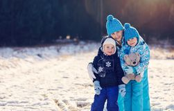 Family will keep you warm Stock Photos