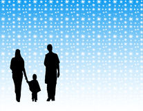Family in the winter Royalty Free Stock Photo