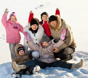 Family in the winter Stock Photography