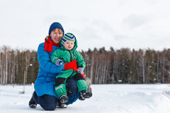 Family winter Royalty Free Stock Photography