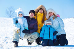 Family in winter Stock Photography