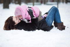 Family in winter Royalty Free Stock Images