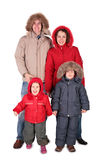 Family in winter clothing Stock Photography