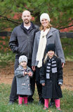 Family in the Winter. A Family in Winter Coats Stock Photo