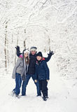 Family winter fun Stock Image