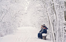 Family winter fun Stock Photo