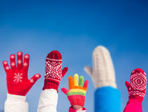 Family Winter Fun Stock Photography