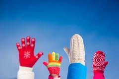 Family Winter Fun Royalty Free Stock Photography