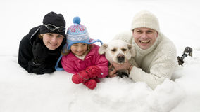 Family winter portrait Royalty Free Stock Images