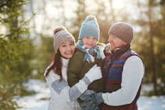 Family in winter Royalty Free Stock Photography