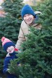 Family at winter Royalty Free Stock Photos