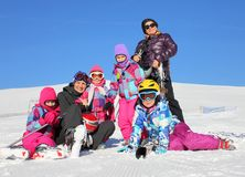 Family on the winter vacation Royalty Free Stock Images