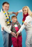 Family in winterwear Royalty Free Stock Photos