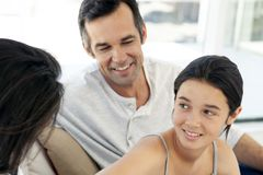 Free Family With One Child - Teenage Girl - Parents - Portrait Stock Photos - 139107043