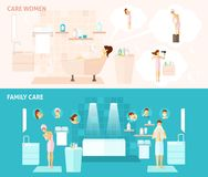 Family And Woman Care Banner Royalty Free Stock Image