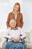 Family with woman and senior Royalty Free Stock Images