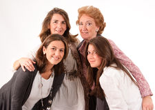 Family of women royalty free stock images