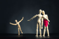 Family of wooden figures Stock Image