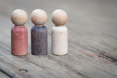 Family of Wooden Peg People Stock Photography