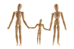 Family of wooden puppets Stock Image