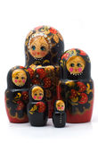 Family of wooden toys Royalty Free Stock Images