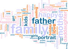 Family word cloud Royalty Free Stock Image