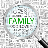 FAMILY. Word cloud concept illustration. Wordcloud collage Stock Photos