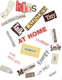 Family Word Collage Stock Photo