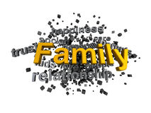 Family word in Wordcloud with keywords Stock Photos