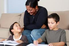 Family Working Stock Photos