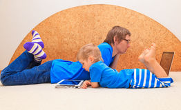 Family working from home Royalty Free Stock Photo
