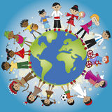 Family world. Illustration of different family around the world Royalty Free Stock Photo