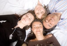 Family without worries - sleeping Royalty Free Stock Photo