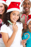 Family xmas Royalty Free Stock Image