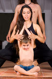 Family yoga Royalty Free Stock Photo