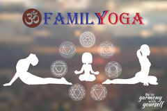 Family Yoga Stock Image