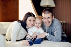 Family with young son Royalty Free Stock Images