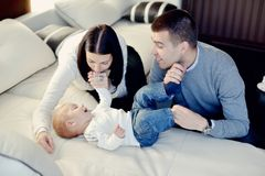 Family with young son Stock Images