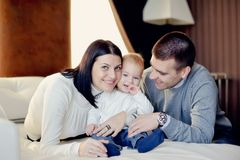 Family with young son Stock Photo
