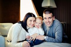 Family with young son Royalty Free Stock Photos