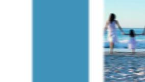 Familys op vakantiemontering stock video