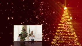 Familys preparing tree animations Stock Photos