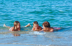 Familys summer holidays on sea. Stock Image