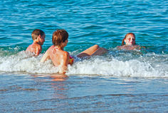 Familys summer holidays on sea. Royalty Free Stock Image