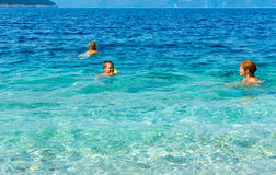 Familys summer holidays on sea (Greece). Stock Photo